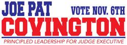 Joe Pat for Judge Executive